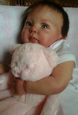 Realistic cute reborn baby girl doll CANDY by Ping lau