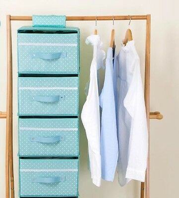 4 Tier Hanging Drawers Foldable Waterproof Quality Portable Collapsible Storage