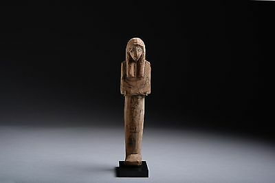 Ancient Egyptian New Kingdom Ramesside Wooden Shabti for Nes-Bay - 1187 BC