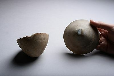 Two Bronze Age Stone Bowls - 2nd Millennium BC