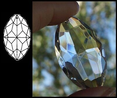 Crystal MARQUIS 38mm CLEAR Suncatcher Chandelier FACETED POINTED OVAL Pendant