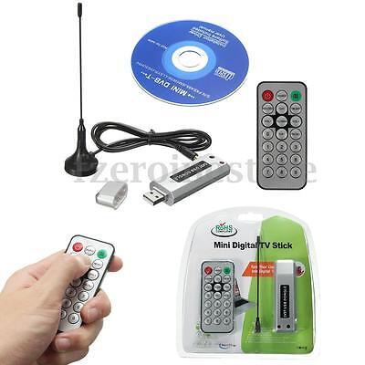 New Usb 2.0 Digital Dvb-T Tv Receiver Dongle Stick Antenna Tuner For Pc Laptop