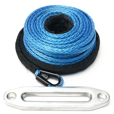 100Ft 30M x 10MM Winch Rope Cable Synthetic Aluminium Fairlead Recovery Offroad