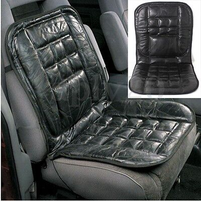 Leather Back Support Front Seat Cover Cushion Chair Massage For Car Taxi Protect