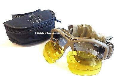 British Army Revision Bullet Tan Sand Tactical Eye Protection Goggles New 12562