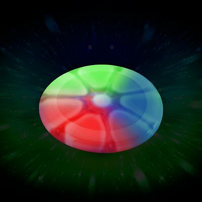 Frisbee flying disk aerobies glowing led kids outdoor fun games garden toys