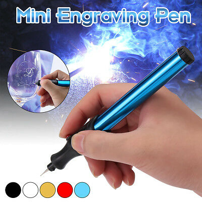 4Pcs Micro Electric Engraving Engraver Pen Carve For Jewellery Metal Glass Stone