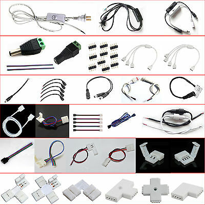 LED Strip Light Wire Connector Adapter Cable Clip PCB 3528 5050 5630 RGB