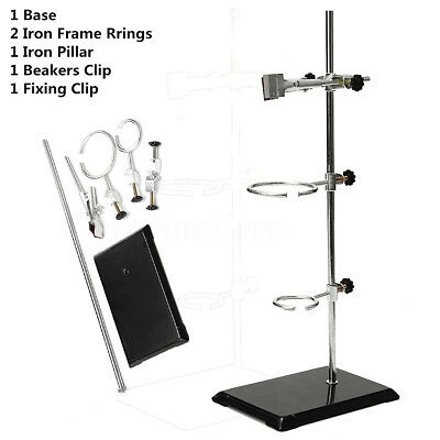 50cm Lab Bracket Retort Support Stands Platform Clamp Flask Alcohol Bottle Tube
