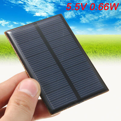 HK 5.5V 0.66W 120mA Solar Panels Module DIY For Small Power System Battery Home