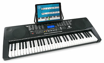 Klasse Keyboard mit 61 Leuchttasten, 255 Sounds, 3 Lernfunktion und MP3-Player