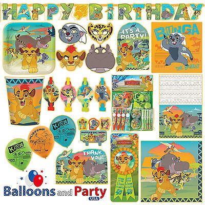 Disney Lion Guard King Birthday Party Tableware Decorations Supplies