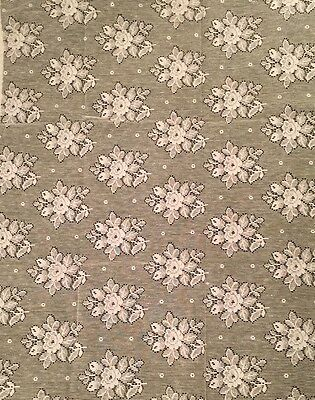 "vintage small lace Fabric  Floral design White Cotton 1950's 26"" X 21"