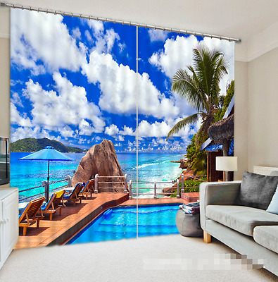 3D Sky Bridge 9 Blockout Photo Curtain Printing Curtains Drapes Fabric Window CA