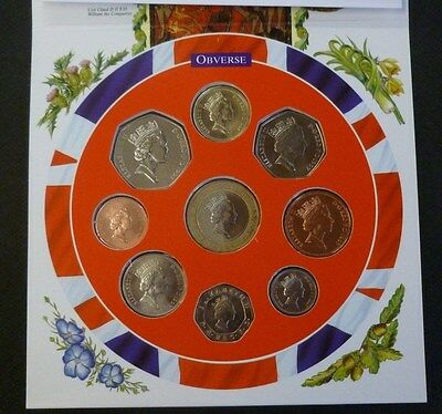 1997 Uncirculated UK Year set BU 9-coin Royal Mint pack