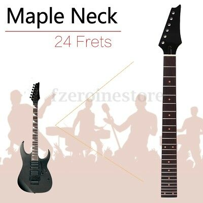 Electric Guitar Neck For ST Parts Replacement Maple Wood Rosewood 24 Fret