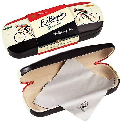 dotcomgiftshop LE BICYCLE DESIGN HARDSHELL GLASSES CASE & CLEANING CLOTH