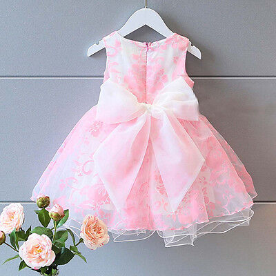 Toddler Baby Kids Girl Princess Tutu Dresses Tulle Party Wedding Prom Ball Gown