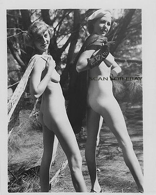Vintage 4X5 Nude Photo Busty Woman Original 1940's Pre WWII Risque Pinup AH7.32