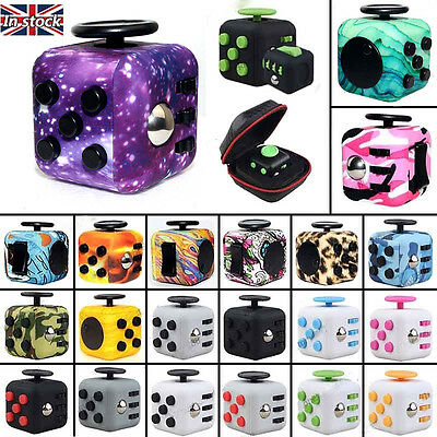 2017 Hot Fidget Cube Fun Children Vinyl Desk Toy Adults Stress Relief Cubes Gift