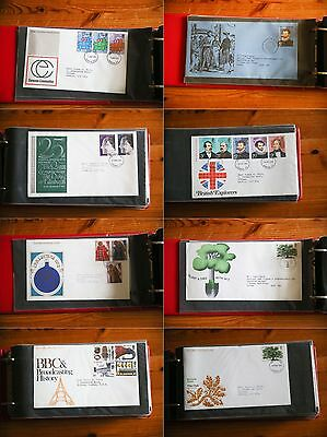 Album Of 50 Uk  First Day Cover Stamps Ranging From 1973 - 1978