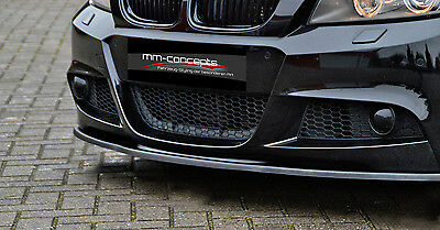 CUP Spoilerlippe 3er BMW E90 E91 mit M ab Bj. 08 Front Schwert Splitter Lippe IN