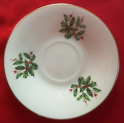 """Lenox China Holiday (Dimension/Presidential) SAUCER (COFFEE/TEA CUP) 6"""" PLATE"""