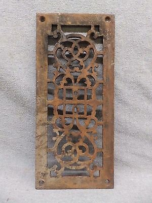 Antique Cast Iron Fireplace Grill Grate Wall Ceiling Vent Old Vintage 557-17R