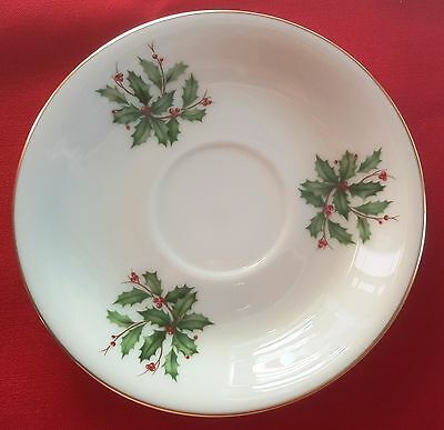 """Lenox China Holiday Dimension/Presidential SAUCER (COFFEE/TEA CUP) 5 3/4"""" PLATE"""