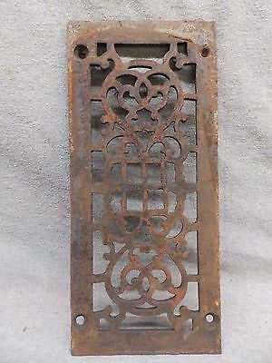 Antique Cast Iron Fireplace Grill Grate Wall Ceiling Vent Old Vintage 559-17R
