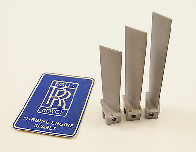 Rolls Royce Avon Jet engine - Blades x3 - RAF- aircraft parts - turbine blade