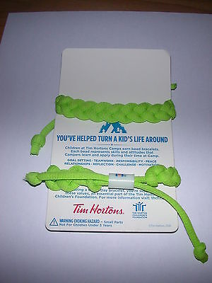 Tim Hortons Camp Day Bracelets ( 2 ) ( GREEN )