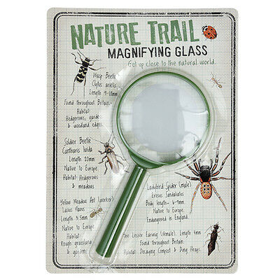 dotcomgiftshop NATURE TRAIL CHILDRENS GREEN PLASTIC MAGNIFYING GLASS