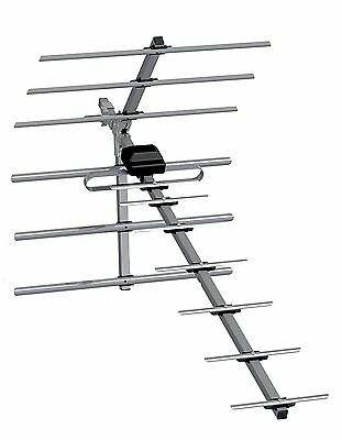 Ross Outdoor TV Aerial HDTV Digital Freeview Anenna DVB 14 Element Low Gain