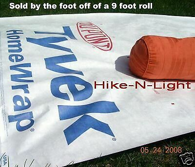 Dupont Tyvek Homewrap~sold by the foot from a 9 foot roll w/ Tie-Off Loops