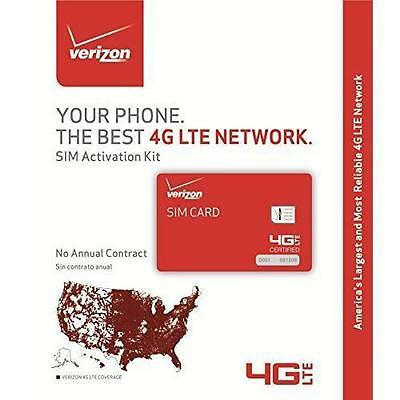 Verizon Prepaid Nano SIM Kit Unlimited Talk & Text 3GB 4G First Month $40 Free