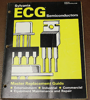 1981 SYLVANIA ECG Semiconductor Master Replacement Guide DATA BOOK ELECTRONICS
