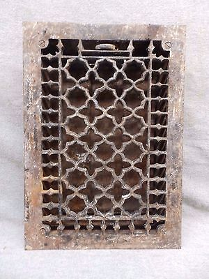 Antique Gothic Cast Iron Heat Grate Vent Register Design Decorative 12x8 564-17R