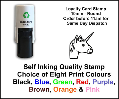Loyalty Card Stamp Unicorn Professional Quality Self Inking 10mm FREE POST