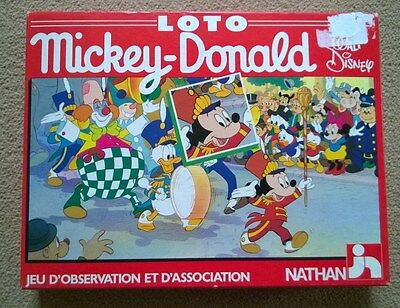 Vintage Jumbo Loto Game MICKEY- DONALD Walt Disney Game by NATHAN