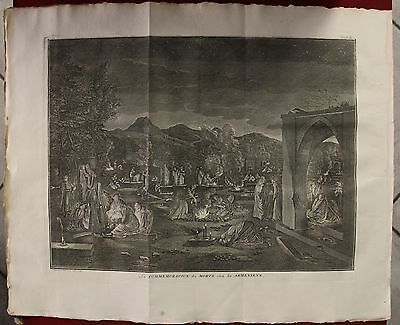 Armenia Armenian Day Of Death Ceremony 1789 Picart Antique Copper Engraved Plate