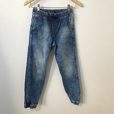 H&M Denim Joggers Jeans Boys Size 9-10 Years Relaxed Fit C11
