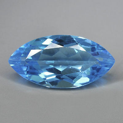 10x5mm MARQUISE-FACET SWISS-BLUE NATURAL AFRICAN TOPAZ GEMSTONE