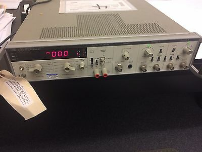 HP Aligent Model 5328A Universal Counter with Option tags  010, 021, 031 on back