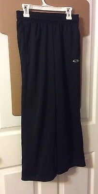 Champion, Boys Black Long Athletic Pants With Duo Dry And Pockets, Medium 8-10