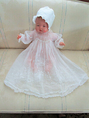 Vintage 50's 60's Baby/toddler Christening Gown, Embroidered & Lace, Adorable!