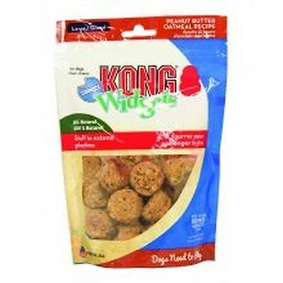 KONG Dog Biscuits Snacks  Widgets Cookies Peanut Butter Oatmeal Large 170gms