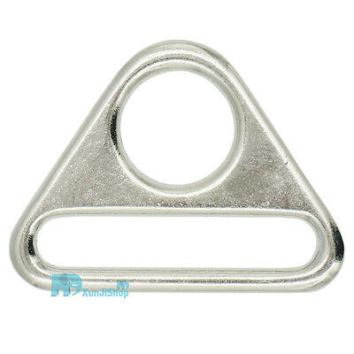 "38 25mm 1"" 1.5"" Metal Adjuster Triangle Ring with Bar Swivel Clip D Dee Buckles"