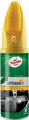 Turtle Wax Interior 1 Car Seat Upholstery Dry Foam Cleaner With Brush 500ml