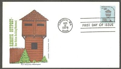 Us Fdc 1978 Remote Outpost Fort Nisqually 28C Jackson First Day Of Issue Cover